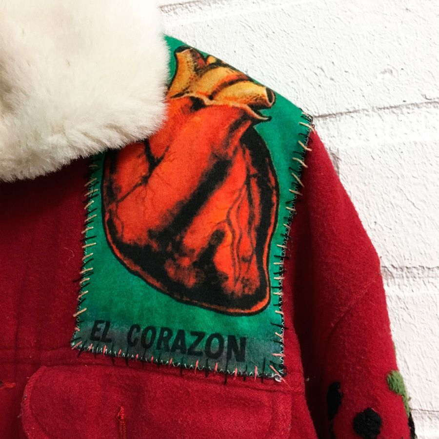 Red Jacket Top Right Patch Detail